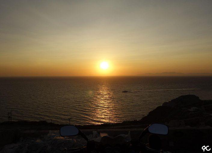 Coucher de soleil depuis la remontée de Katharos beach