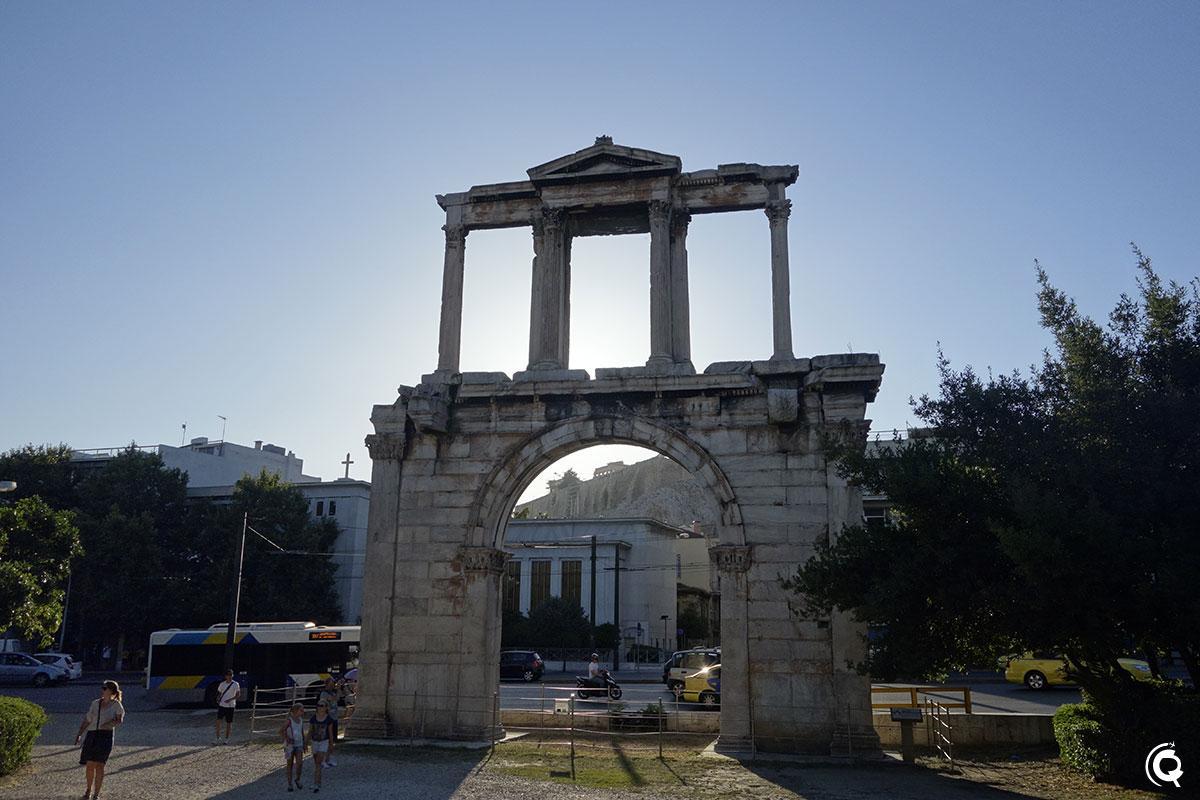 La Porte d'Hadrien à Athènes