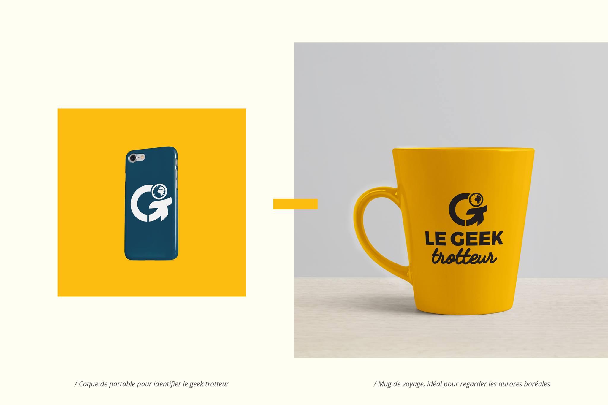Coque de smartphone et mug Le Geek Trotteur