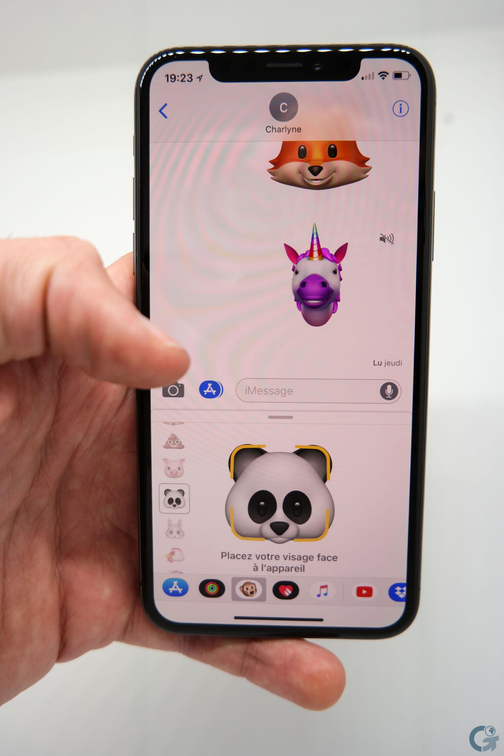Animojis sur iPhone X