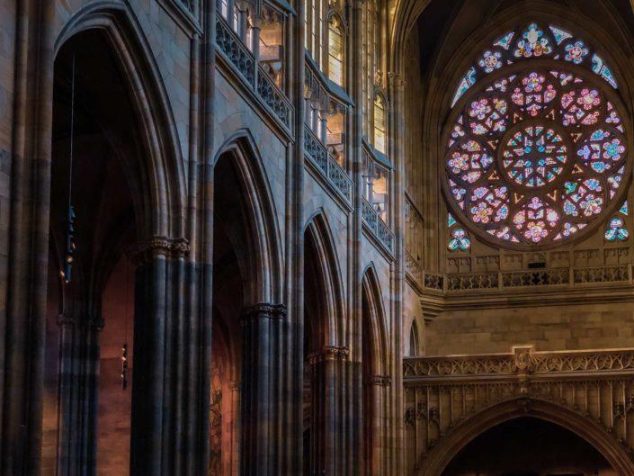 Intérieur de la cathédrale Saint-Guy de Prague