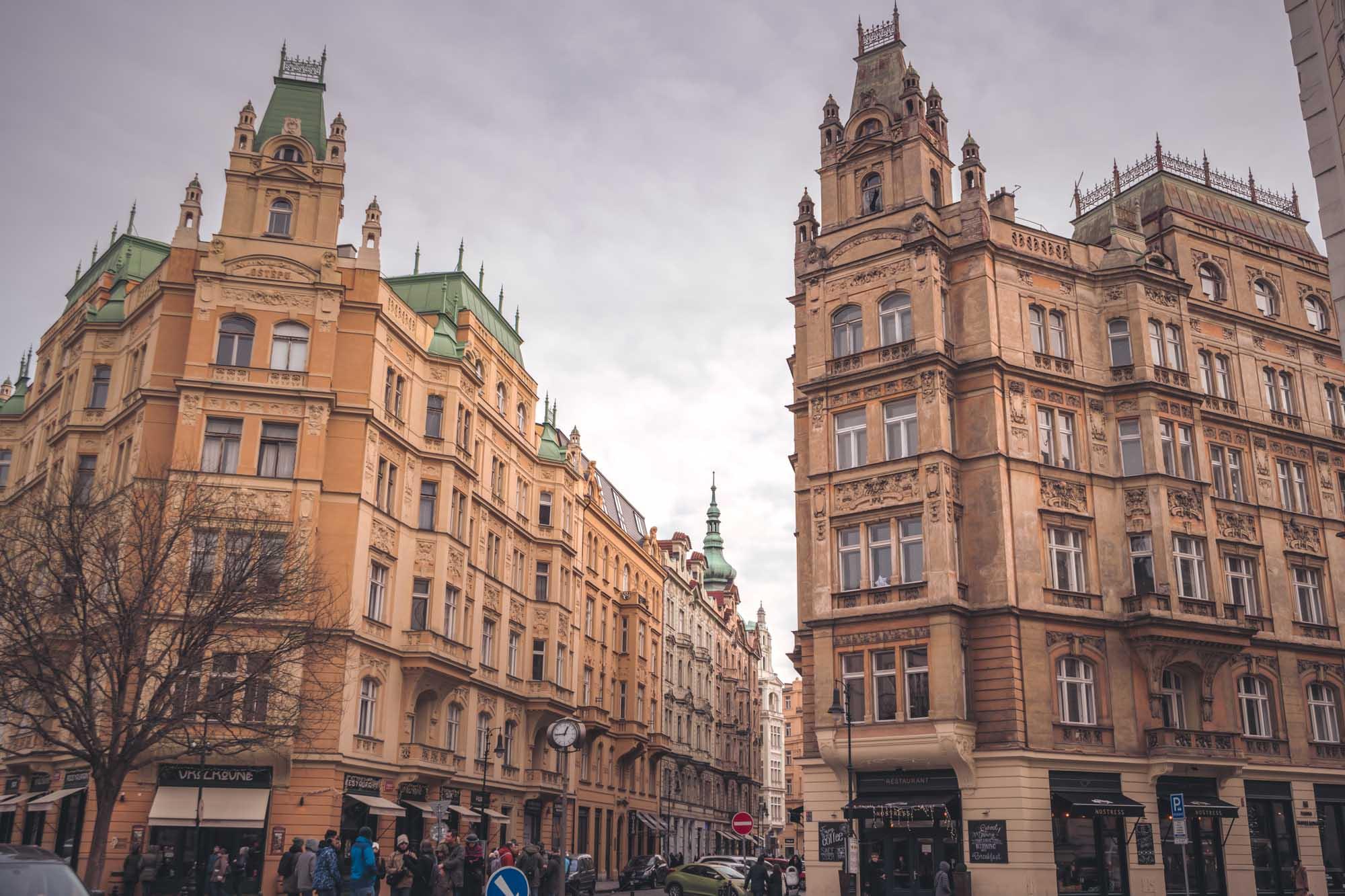 Bâtiments dans Prague