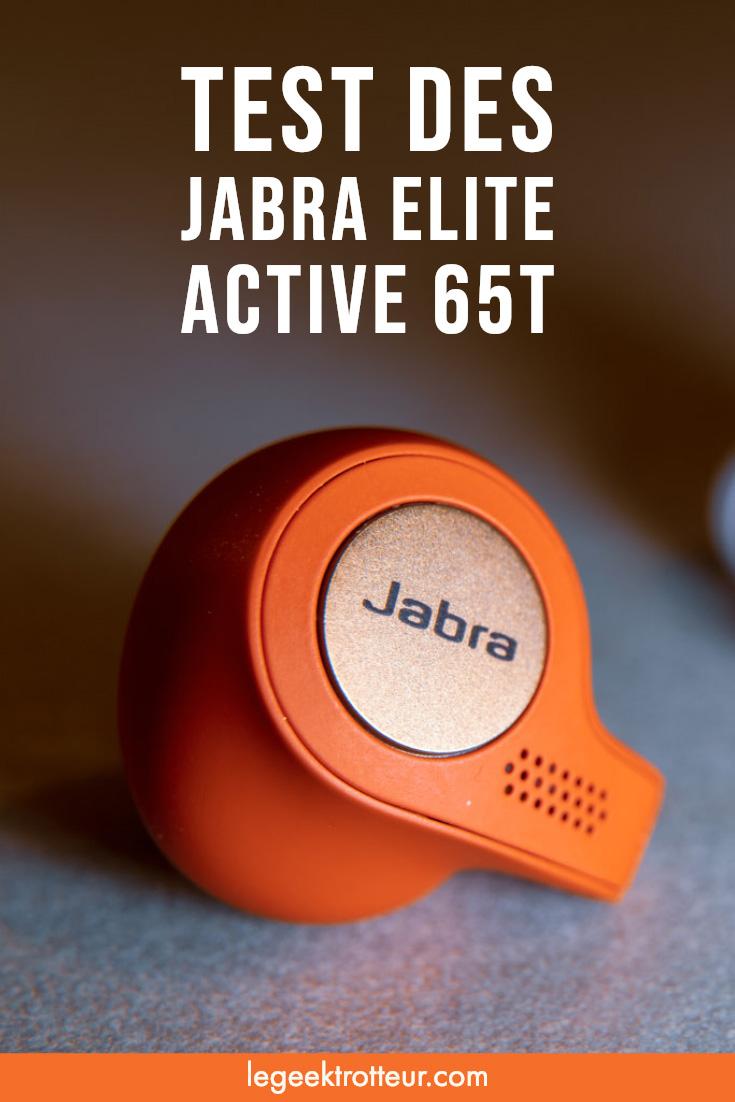Test des écouteurs Jabra Elite Active 65t - Le Geek Trotteur