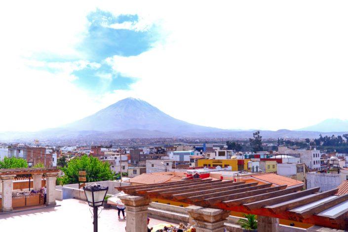 Le volcan Misti qui domine la ville d'Arequipa