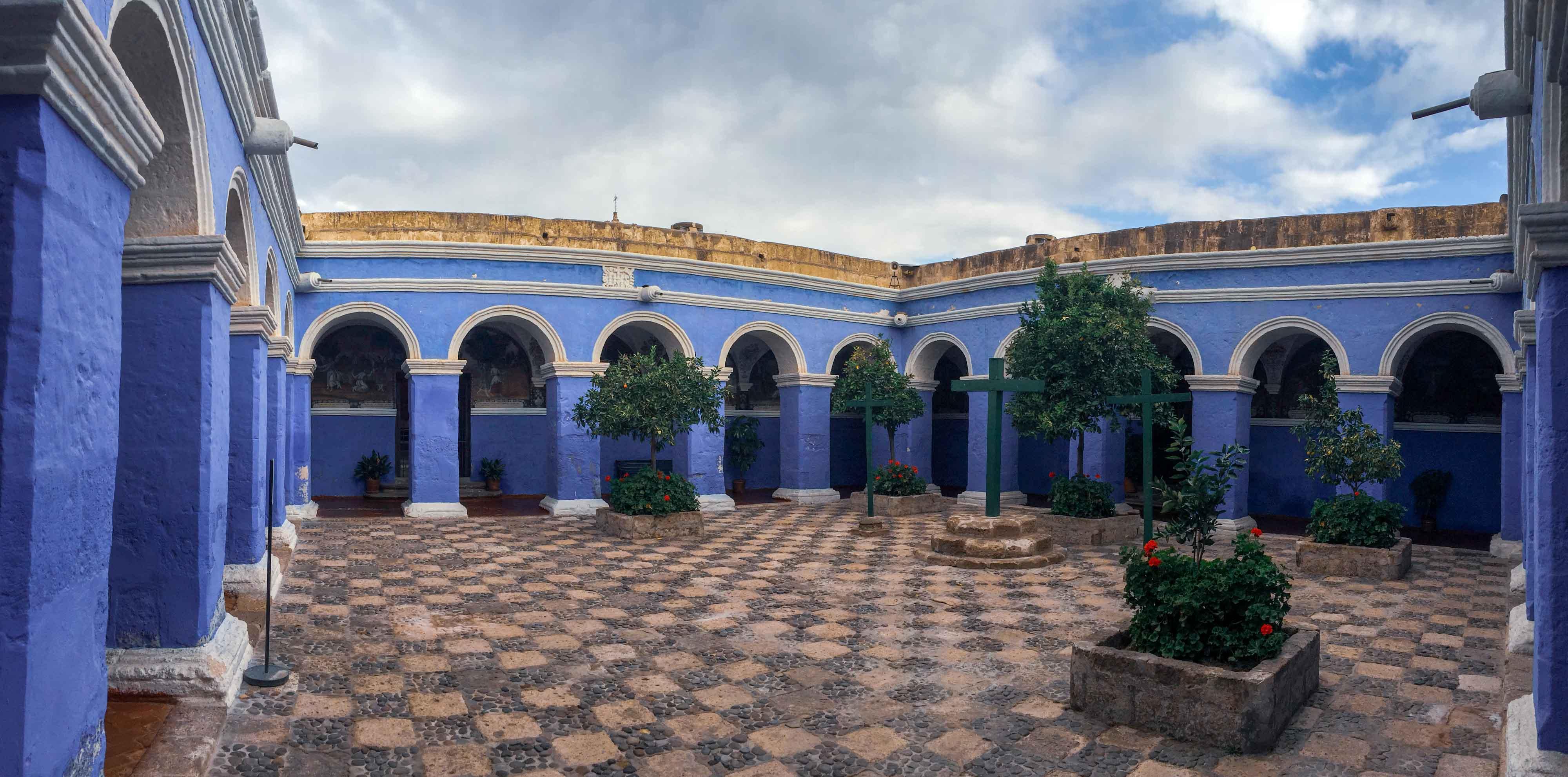 La cour intérieure et ses magnifiques arcades