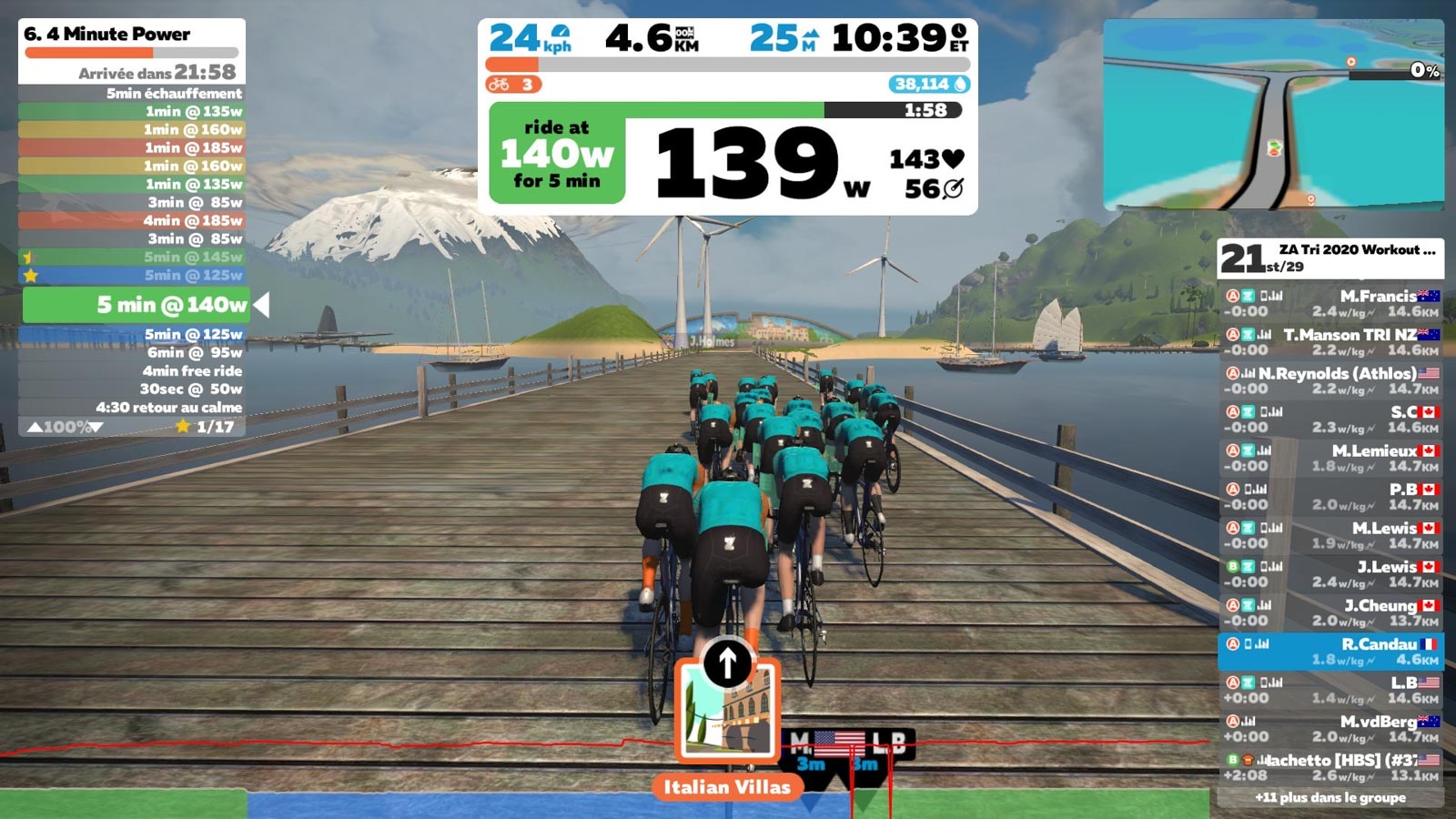 Zwift in game